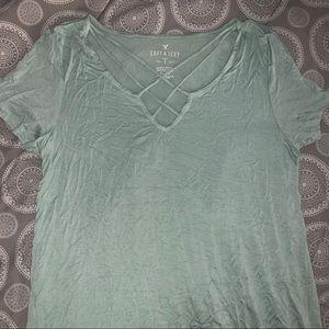 mint green soft & sexy shirt